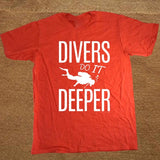 Divers Do It Deeper Scuba Dive Men's Cotton Short Sleeve T Shirt
