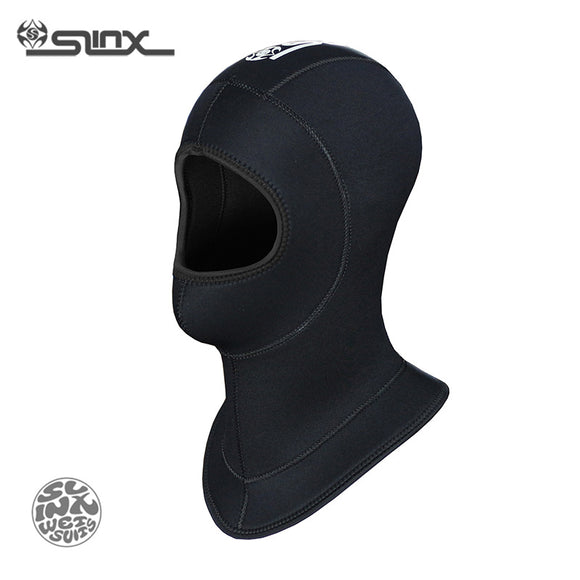 SLINX 1308 5mm Neoprene Waterproof Scuba Diving Hat Equipment Spearfishing Fishing Snorkeling Swim Neck Full Face Mask Hood Cap