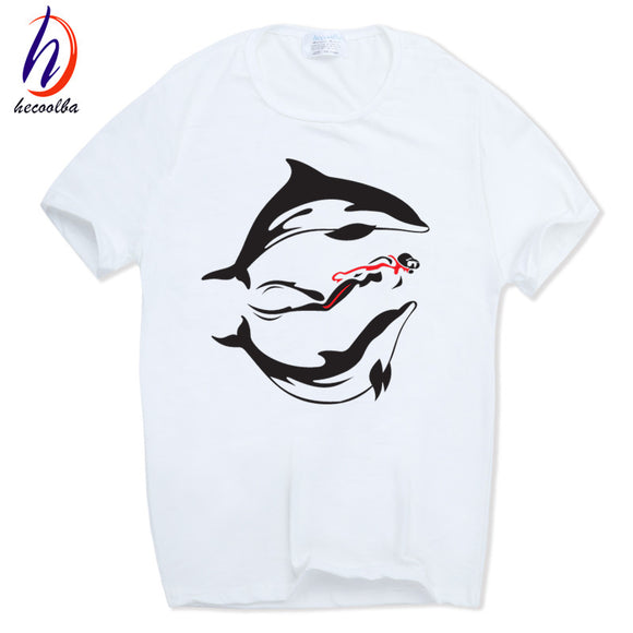 2017 Men Women Print EVOLUTION OF SCUBA DIVER dive Funny T-shirt O-Neck Short sleeves Summer Fashion T Shirt Streetwear HCP574