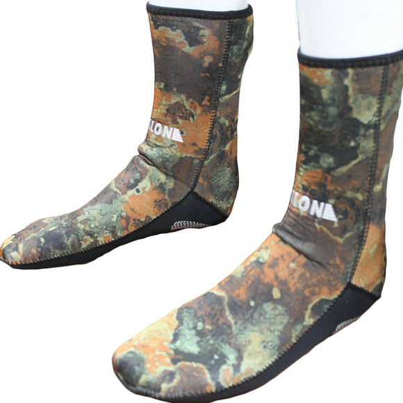 3MM Neoprene Camo Scuba Water Sports Diving Socks Elastic Snorkeling Boots Dry Non-slip Keep Warm Shoes Seaside Beach Surfing