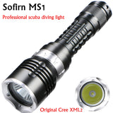 MS1 Scuba Diving Flashlight 18650 Light Dive Torch Powerful Cree LED XM-L2 Underwater Flashlight Waterproof Diving Lamp lanterna