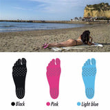 1 Pair Barefoot Soles Stick Feet Pad Invisible Waterproof Anti-Slip Feet Pad Heat Insulation For Pool Summer Beach Holiday New