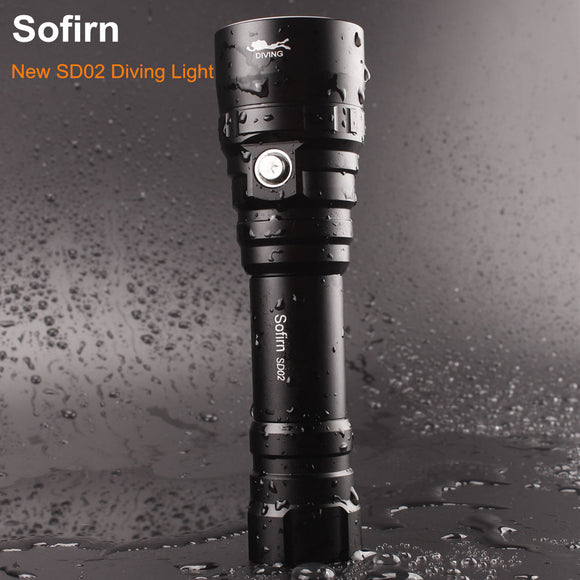 Sofirn SD02 Professional Scuba Diving Flashlight 18650 Powerful Dive Light Cree XPL 1000LM LED Lamp Underwater Searchlight Torch