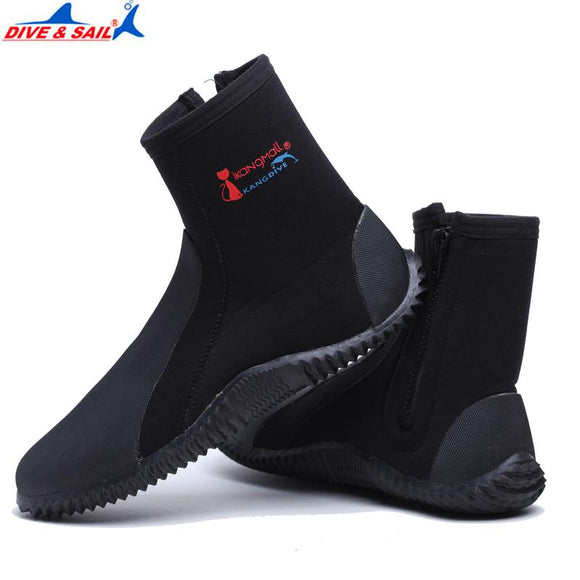 Professional 5MM Neoprene Wetsuit Shoes Beach Stokings Non-slip Antiskid Scuba Diving Boots Snorkeling Fishing In Fins Flippers