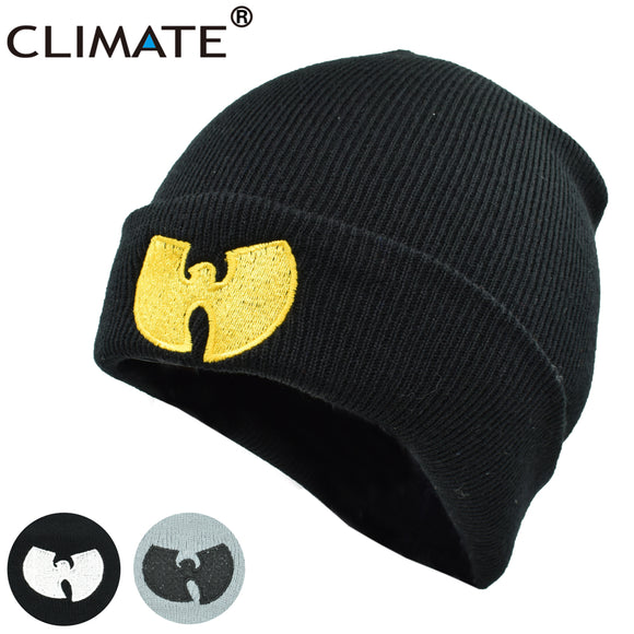 CLIMATE Men Women Wutang Winter Warm Beanie Hat  Musice Skullies Knitted Soft Wu Tang WU-TANG CLAN HipHop Music Team Hats Caps