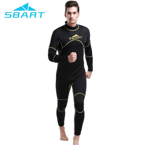 SBART 2017 Men 3mm neoprene wetsuit winter wet suit triathlon suit men scuba diving suit one piece professional swimwear