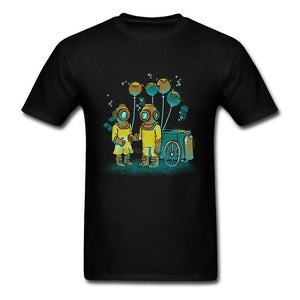 Costume T-Shirt Hot Cheap Man The Balloonfish Vendor Short Sleeve Tshirt Round Neck Homme Deep Sea Diver Custom Made T Shirts