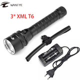 Professional For Diver Lamp 100M Underwater 6000LM XM-L T6 LED Scuba Diving Flashlight Torch Waterproof LED Flash Light Lanterna