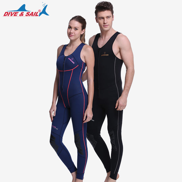 1.5mm Men Women's One-piece Full Body Sleeveless Wetsuit
