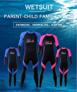 Children, adult children, diving suits, men and women, conjoined surfing clothes, 3MM neoprene diving suits