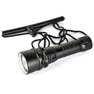 BORUiT 2000LM XML T6 LED Scuba Diving Flashlight Underwater 80M Outdoor Torch Diver Portable Lantern by 18650 Battery