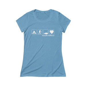 Women's Camp, Hike, Fish, Love Tri-Blend Tee