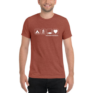 Camp, Hike, Fish, Love T-Shirt (Short Sleeve)
