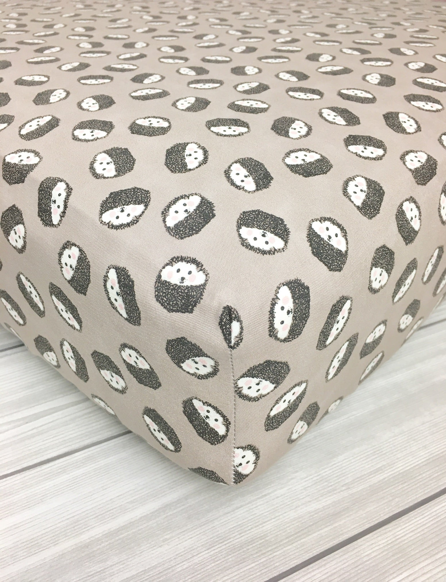 Hedgehog Crib Sheet or Changing Pad Cover