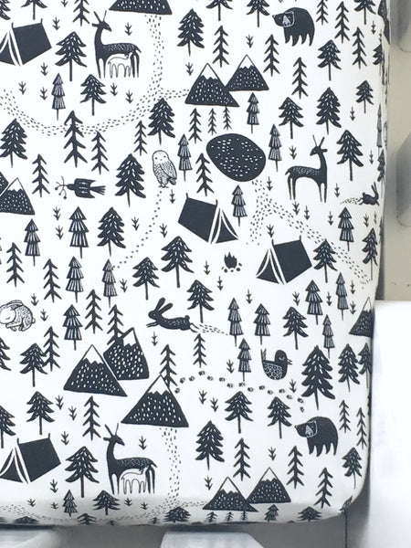 Camping Adventure Crib Sheet or Changing Pad Cover