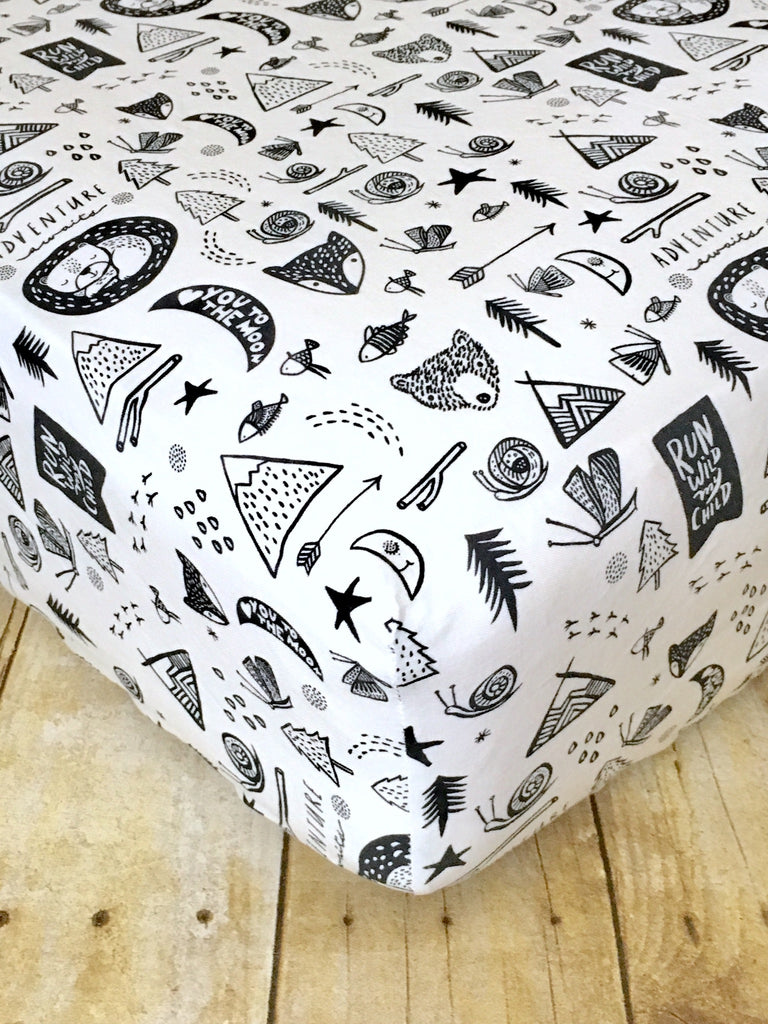 Adventure Awaits Crib Sheet Or Changing Pad Cover The