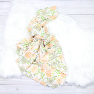 Peach Peonies Swaddle