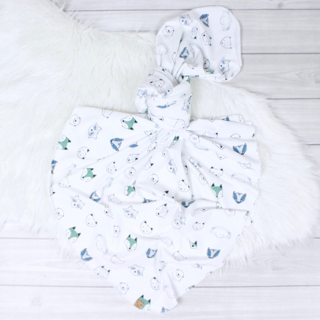 Woodland Animals Swaddle