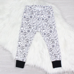 Monochrome Halloween Leggings