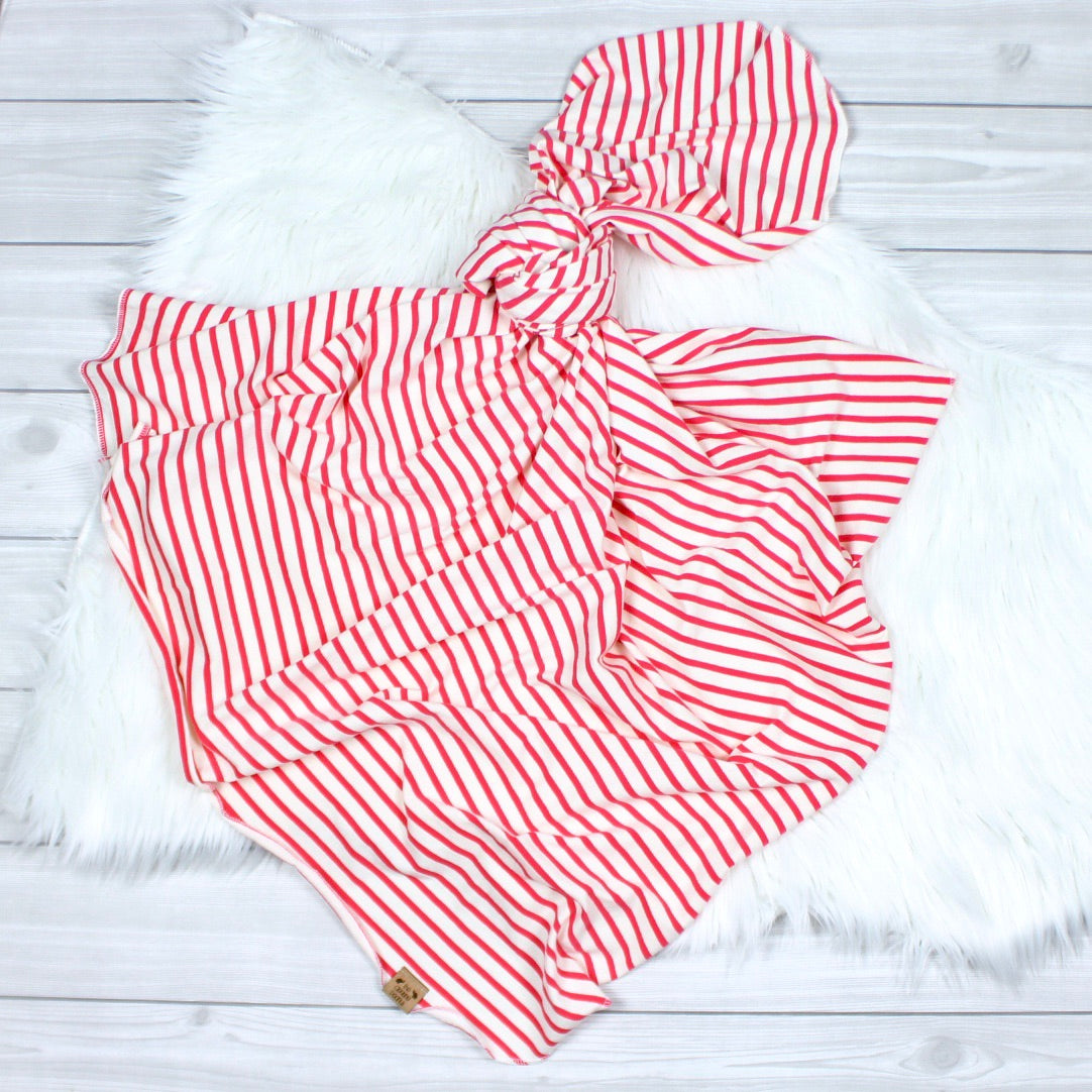 Watermelon Stripe Swaddle Set