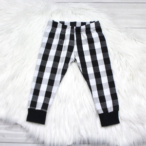 White Buffalo Plaid Leggings