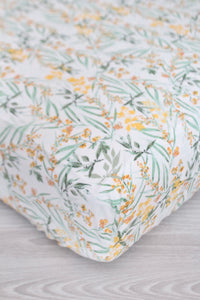 Wildflower Eucalyptus Crib Sheet or Changing Pad Cover