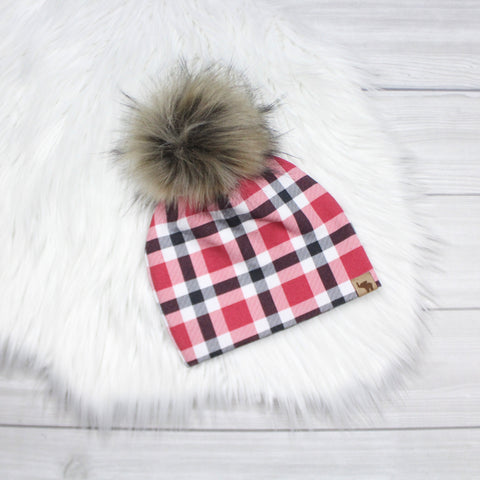 Christmas Plaid Beanie