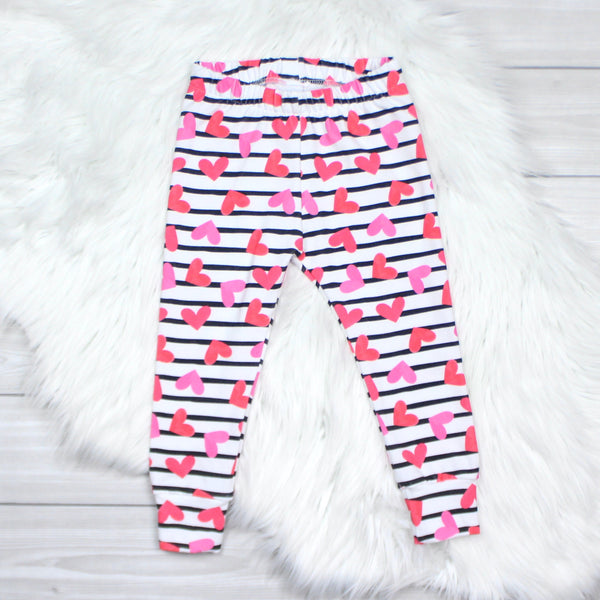 Hearts and Stripes Leggings
