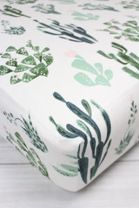 Cactus Crib Sheet or Changing Pad Cover