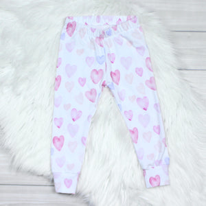Watercolor Hearts Leggings