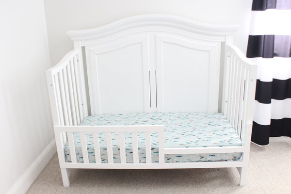 Teal Feathers Crib Sheet or Changing Pad Cover