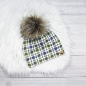 Winter Plaid Beanie