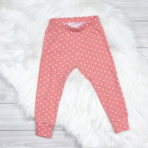 Rose Polka Dot Leggings
