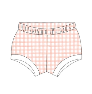 Blush Gingham Shorties