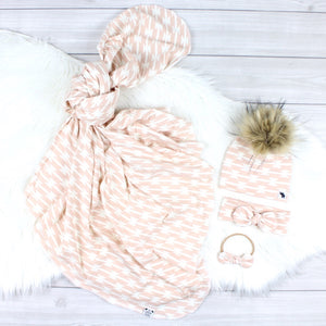 Blush Aztec Swaddle Set