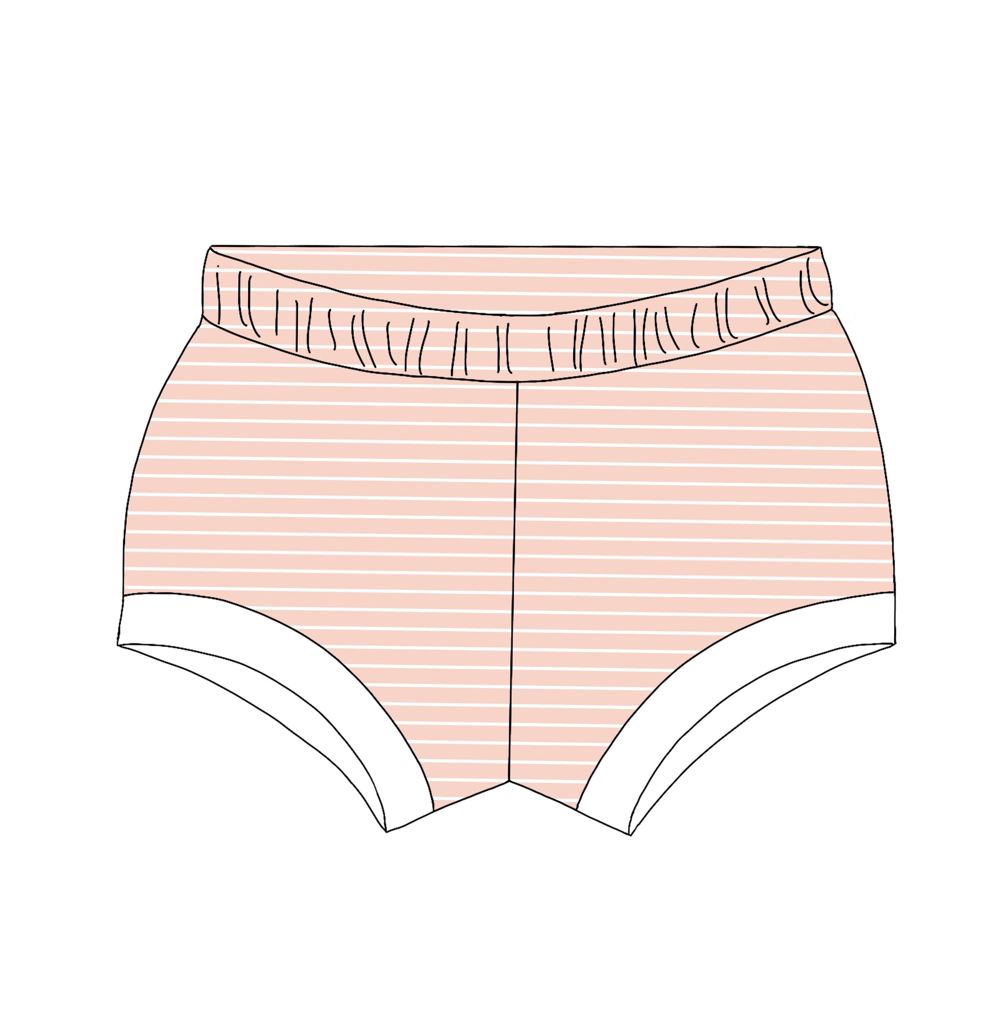 Blush Striped Shorties