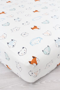 Rustic Woodland Animals Crib Sheet or Changing Pad Cover
