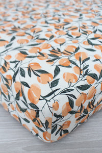Peaches Crib Sheet or Changing Pad Cover