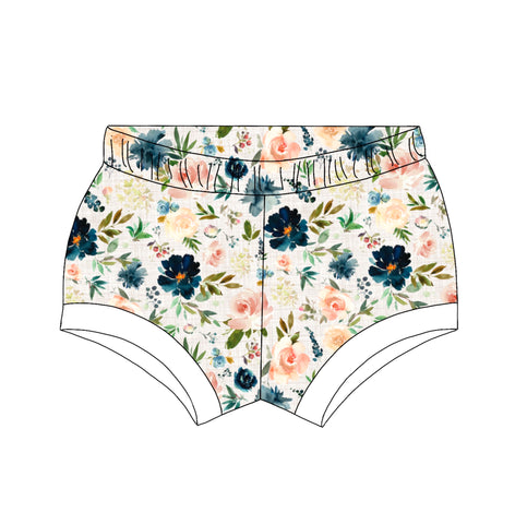 Linen Flower Shorties