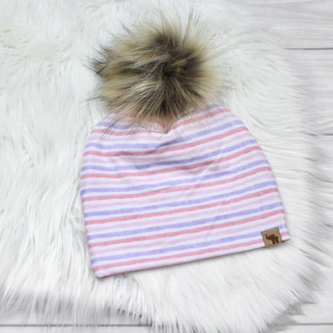 Watercolor Stripes Beanie