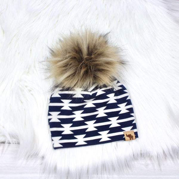 Navy Aztec Swaddle Set