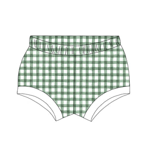Green Gingham Shorties