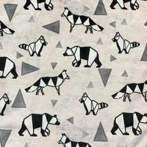 Geometric Animals Minky Crib Sheet or Changing Pad Cover