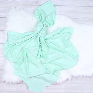 Mint Stripes Swaddle Set