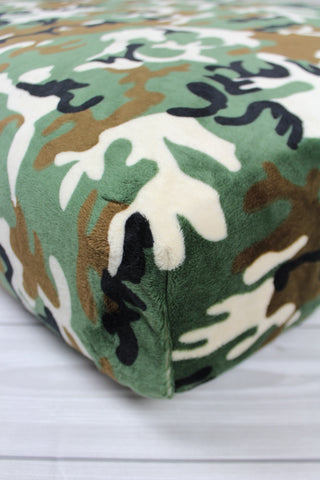 Camo Minky Crib Sheet or Changing Pad Cover