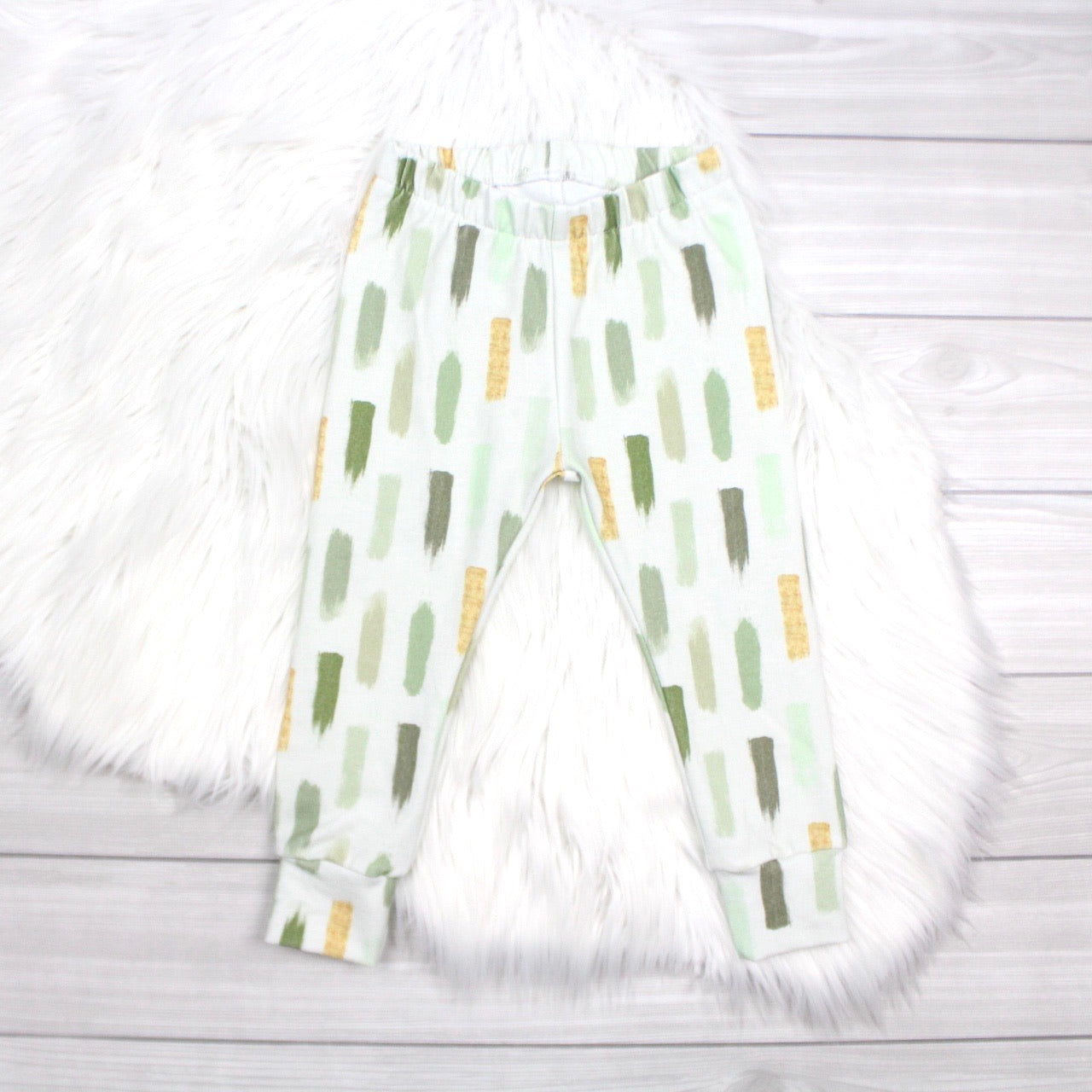 Green Watercolor Leggings