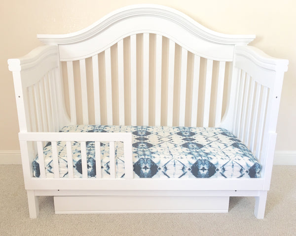 Indigo Tie Dye Crib Sheet or Changing Pad Cover