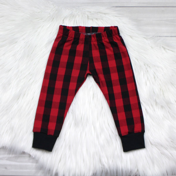Red Buffalo Plaid Leggings