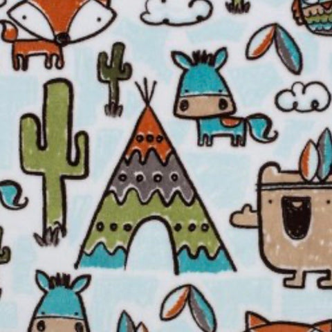 Tribal Cactus Minky Crib Sheet or Changing Pad Cover
