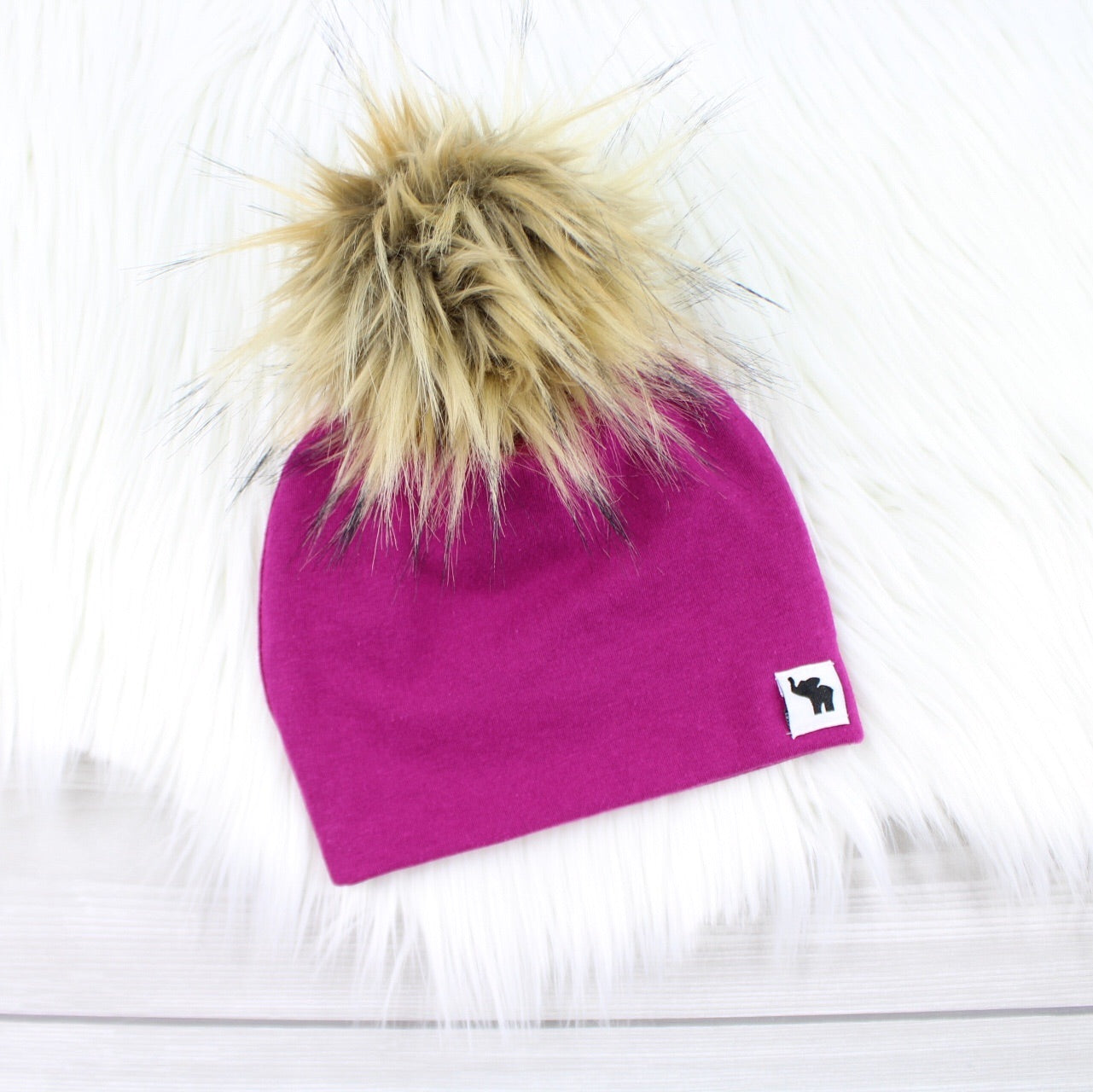 Orchid Pom Beanie